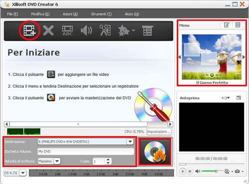 Xilisoft DVD Creator, burn AVI to DVD
